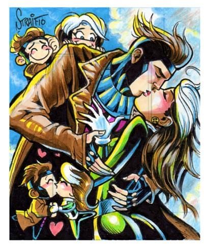 gambit and rogue kiss - photo #30