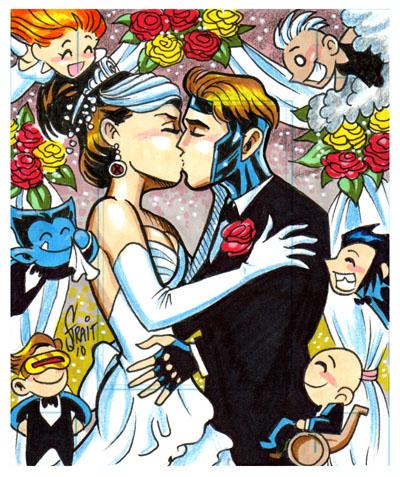 gambit and rogue kiss-#35