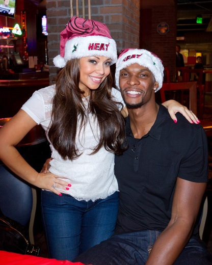 how did chris bosh meet his wife