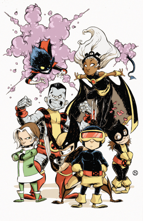 A Strong Dose of Skottie Young. | The Sketchcard Saloon. X Babies Nightcrawler