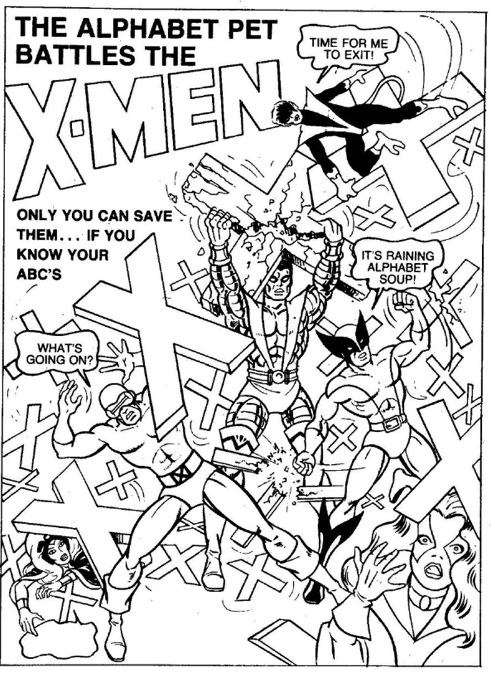 Alphabet Pet X Men Coloring Book Page FTW