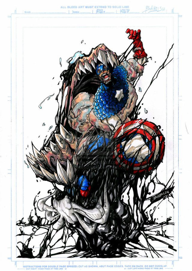 Venom vs. Captain America Babisu Kourtis
