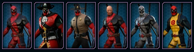 Marvel Heroes Founders Program Deadpool Costumes