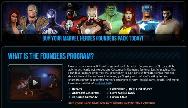 Marvel Heroes Founders Program
