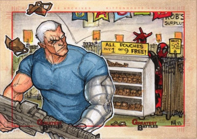 cable and deadpool by meghan hetrick