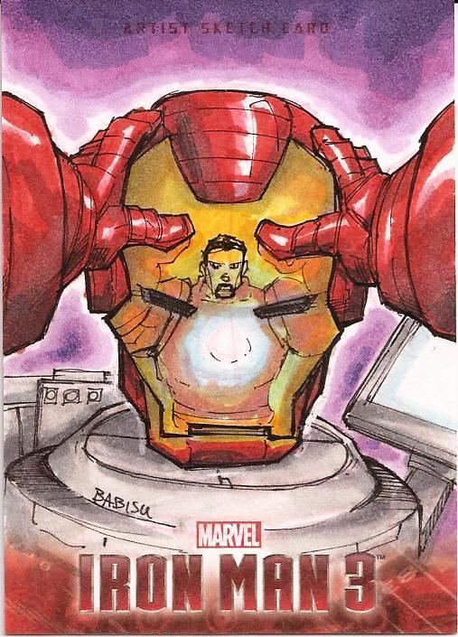 iron man 3 sketch card by Babisu Kourtis