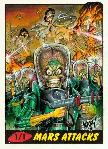 Nar Mars Attacks Sketch Card 2