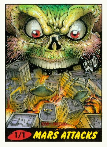Nar Mars Attacks Sketch Card 4