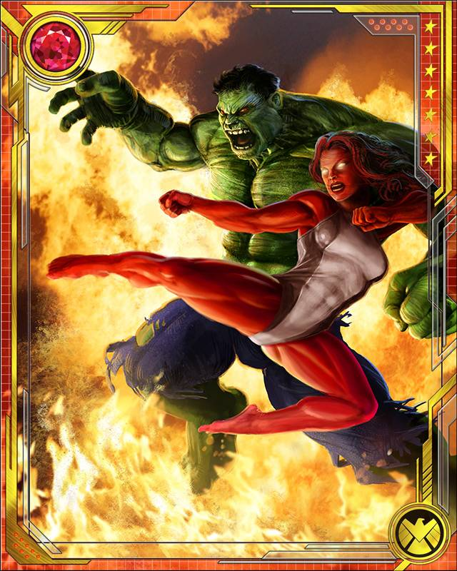 hulk and red she hulk marvel war of heroes